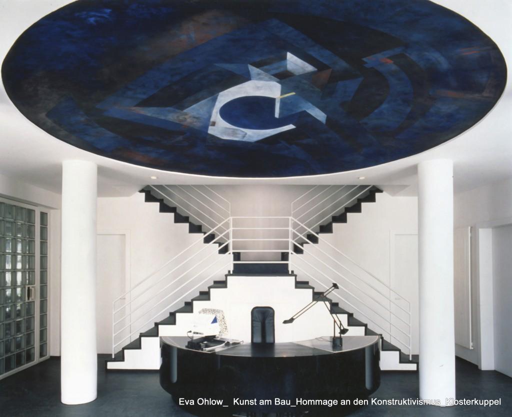 Gabriele immerschön: Eva Ohlow_Kunst am Bau_Hommage an den Konstruktivismus_Klosterkuppel